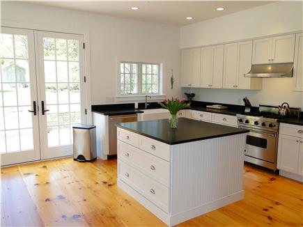 Dennis Cape Cod vacation rental - Large kitchen, with French doors to back yard