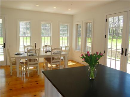 Dennis Cape Cod vacation rental - Dining room faces back yard