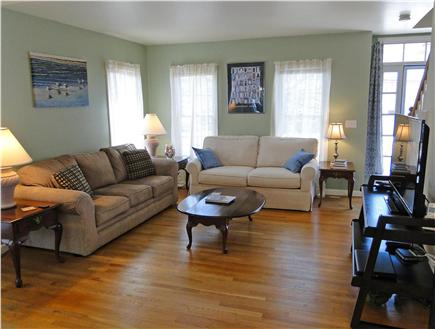 Yarmouth Cape Cod vacation rental - Living area with hardwood floors, flat screen TV