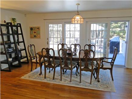 Yarmouth Cape Cod vacation rental - Dining area with sliders to deck