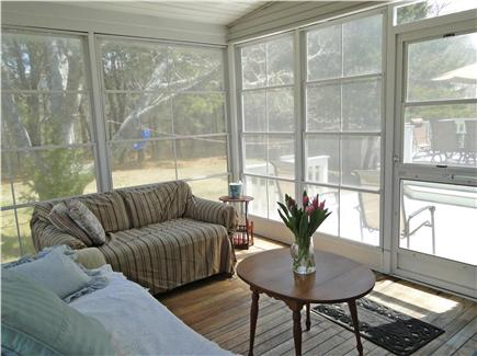 Yarmouth Cape Cod vacation rental - Lovely sun porch, adjacent to bedroom, deck