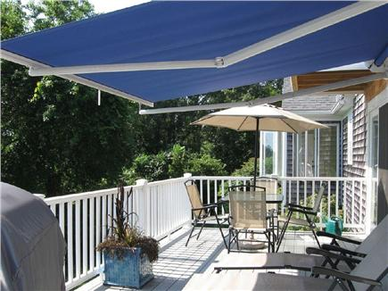 Barnstable Cape Cod vacation rental - Deck with Retractable Sun Awning