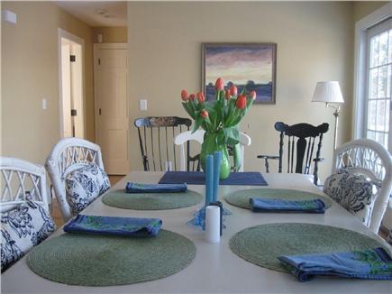 Barnstable Cape Cod vacation rental - Dining Area w/Access to Deck & Door to 1st Floor Bedroom