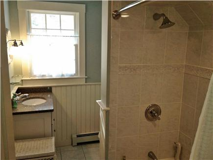 Brewster Cape Cod vacation rental - Tiled upstairs bathroom