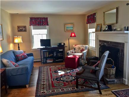 Brewster Cape Cod vacation rental - Living room with fireplace