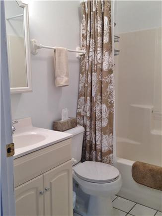 Harwich Port Cape Cod vacation rental - Downstairs bath with tub/shower combo