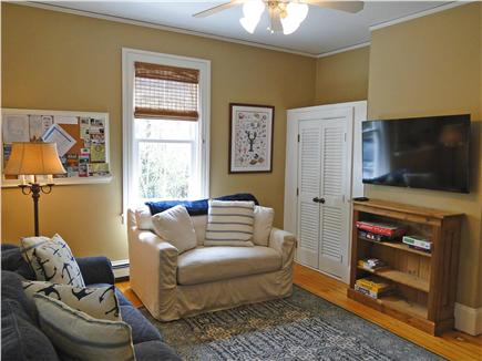 Woods Hole Woods Hole vacation rental - Front room with couches, games and TV, great for kids