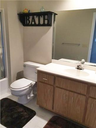 East Falmouth Cape Cod vacation rental - Main bathroom with shower and tub