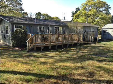 Harwich Cape Cod vacation rental - Back deck, private yard