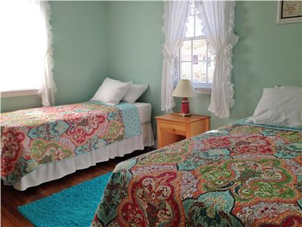 Dennis Port Cape Cod vacation rental - Twin bedroom, brand new mattresses and bedding - large closet