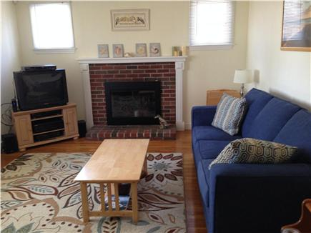 Dennis Port Cape Cod vacation rental - Large living room with brand new queen sleep sofa and new rug