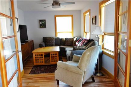 Wellfleet Cape Cod vacation rental - Cozy TV room with sectional and 55'' HD TV.