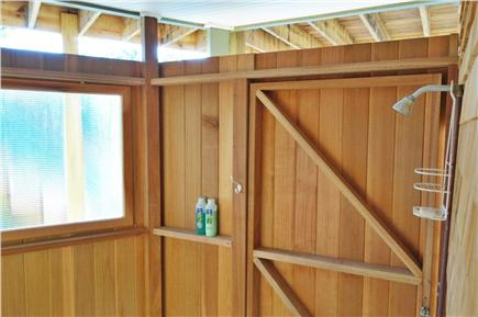 Wellfleet Cape Cod vacation rental - Spacious outdoor shower, opens to outdoors and to bath.