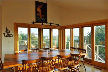 Wellfleet Cape Cod vacation rental - The dining table comfortably seats 12.