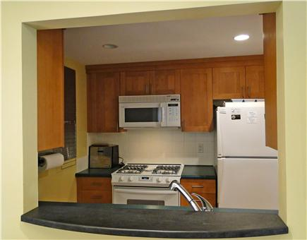 East Orleans Cape Cod vacation rental - Galley kitchen, adjacent to family room and queen bedroom
