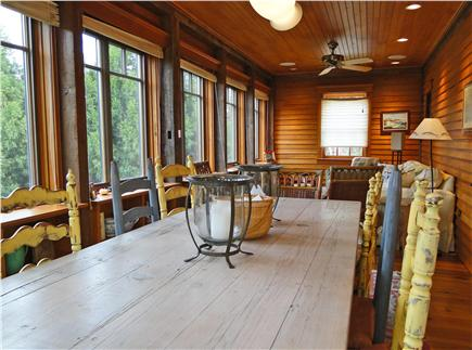 East Orleans Cape Cod vacation rental - Large dining room table, wall of windows