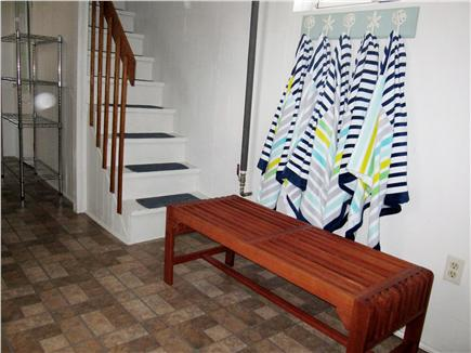 North Truro - Beach Point Cape Cod vacation rental - Lower level - great place for wet suits, beach towels and shoes