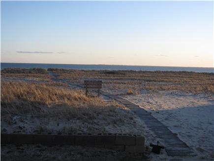 North Truro - Beach Point Cape Cod vacation rental - Boardwalk behind the house - to the water in under one minute!!