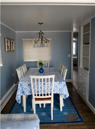 North Truro - Beach Point Cape Cod vacation rental - Looking at the dining room from the living room sofa