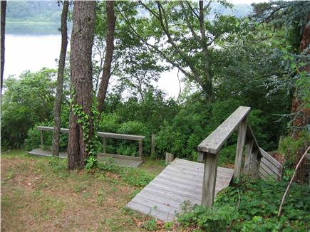 Chatham, Cape Cod Cape Cod vacation rental - Back Yard steps from the pond