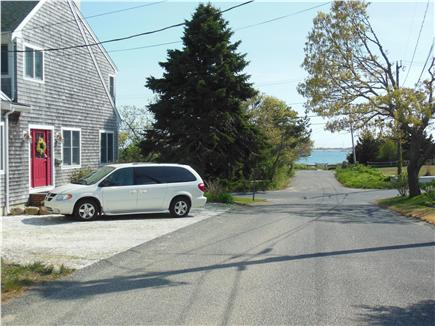 Hyannis Park/West Yarmouth Cape Cod vacation rental - Front door & parking with views of the beach, just 125 yards away