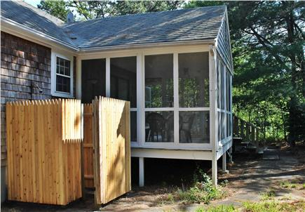 E. Harwich Cape Cod vacation rental - Enclosed Screen Porch & Outdoor Shower