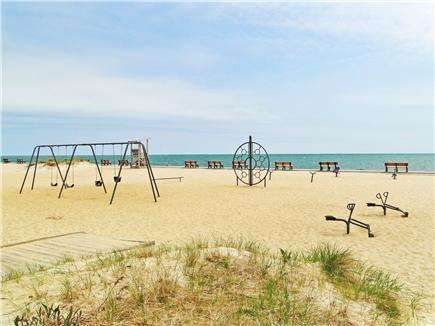 South Yarmouth Cape Cod vacation rental - There's a playground for the kids at the beach