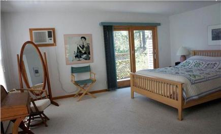 Wellfleet Cape Cod vacation rental - Master bedroom on 1st floor w/access to outdoor shower