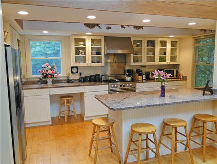 Brewster Cape Cod vacation rental - Beautiful modern kitchen with breakfast bar, top appliances