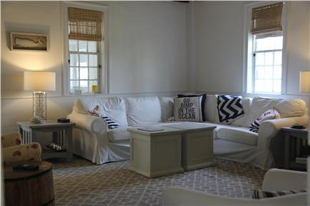 East Dennis Cape Cod vacation rental - Living Room (equipped with large screen lcd tv and xfinity dvr)