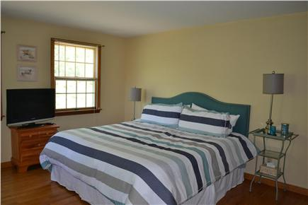 Eastham Cape Cod vacation rental - Master Bedroom with King, Crib, private bath and walk-in-closet
