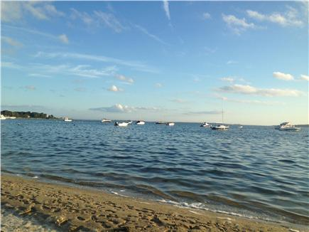 Seconsett Island, Mashpee Cape Cod vacation rental - Watching the boats at our beach