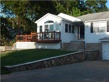 Gray Gables, Bourne, MA Cape Cod vacation rental - New Stone front steps and sod