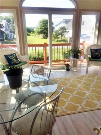 Gray Gables, Bourne, MA Cape Cod vacation rental - Relaxing Sunroom ..