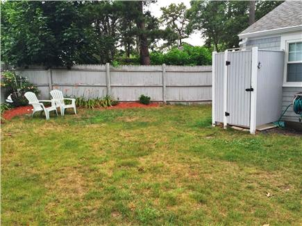 Dennis Port Cape Cod vacation rental - Large fenced in yard with outdoor shower
