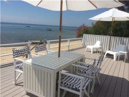Provincetown Cape Cod vacation rental - Take the steps off of the deck and you are on a sandy beach.
