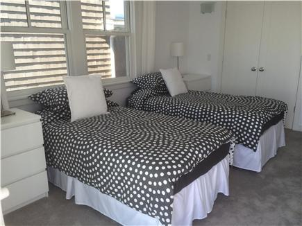 Provincetown Cape Cod vacation rental - These twin beds (can become a King)  have a view of the bay.