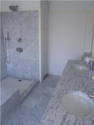 Provincetown Cape Cod vacation rental - All 3 bathrooms are appointed with Italian Carrara tile.