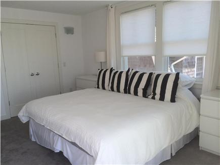 Provincetown Cape Cod vacation rental - This King bedroom also includes a deck with a view of the bay.