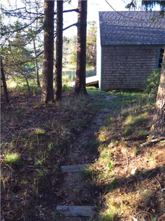 East Orleans Cape Cod vacation rental - Path to private beach and boat house