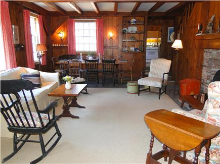 East Orleans Cape Cod vacation rental - Main room includes fireplace and dining area