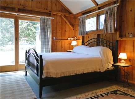 East Orleans Cape Cod vacation rental - Queen master bedroom with private bath, slider to deck