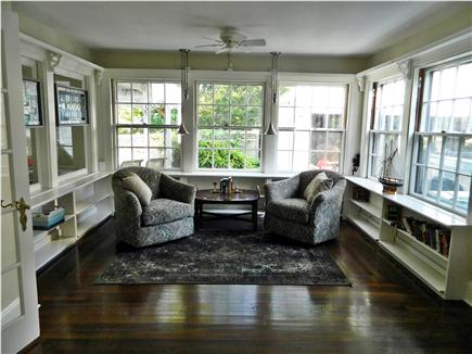 Hyannis Cape Cod vacation rental - One end of the living room with the reading area