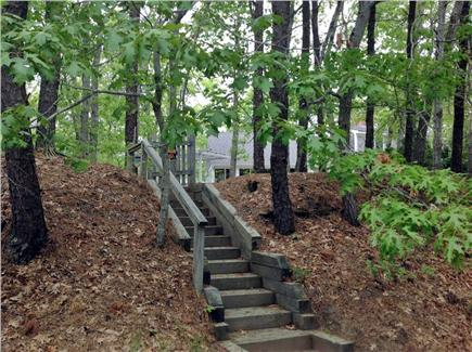 Eastham Cape Cod vacation rental - Private stairs to the bike path