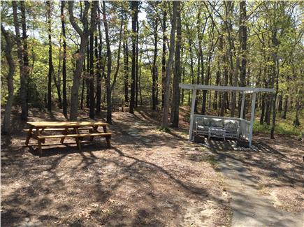 Eastham Cape Cod vacation rental - New picnic table, relaxing gazebo, private steps to bike path