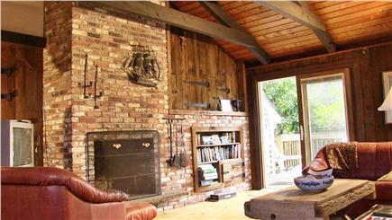 North Eastham Cape Cod vacation rental - The Living Room is large, airy and leads to the upper deck.