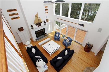 Brewster Cape Cod vacation rental - Spacious Living Area w/ Unobstructed Views of Long Pond