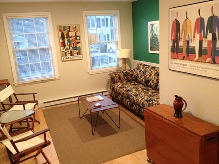 Provincetown Cape Cod vacation rental - Sunny living room with hardwood floor