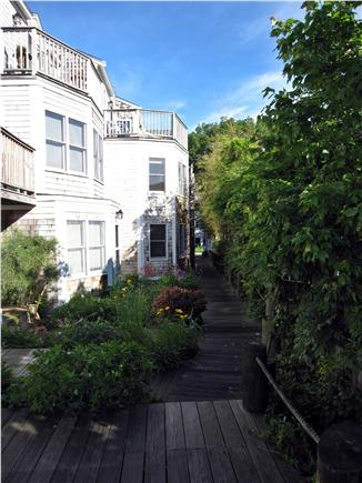 Provincetown Cape Cod vacation rental - Waterfront deck and garden