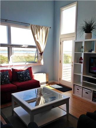 Truro Cape Cod vacation rental - Sunny family room with water views